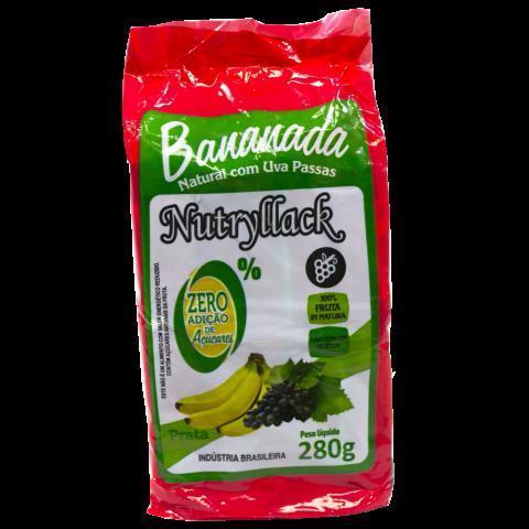 Bananada Natural Com Uvas Passas 280g REF:  3669