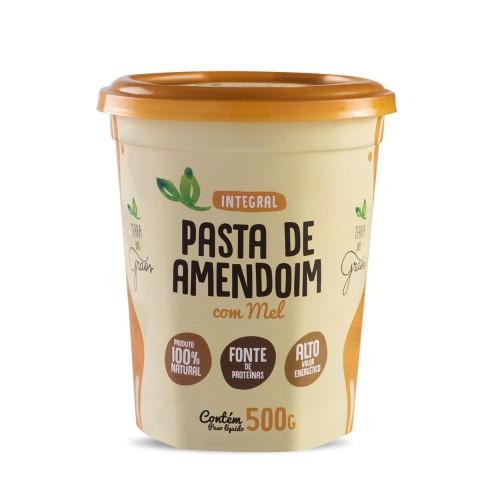 Pasta de Amendoim Integral c Mel Terra dos Grãos 500g REF:  07363