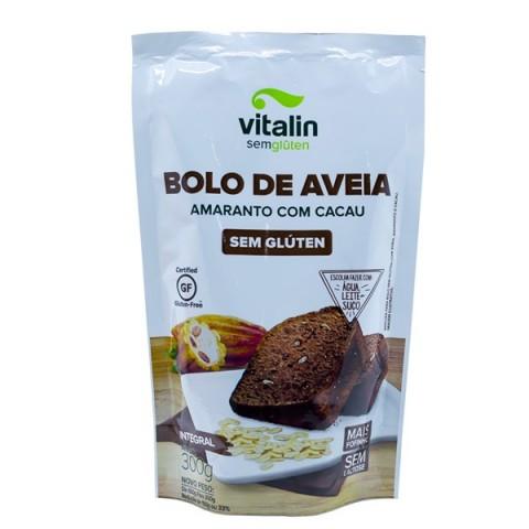 Mistura para Bolo sem Glúten Aveia Amaranto e Cacau Vitalin 300g REF: 10393