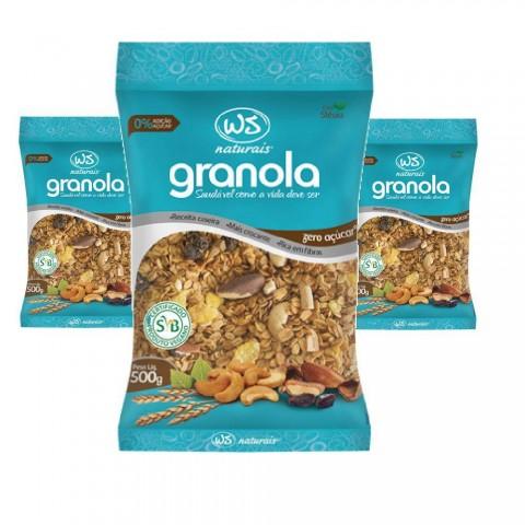 Granola WS Zero Açúcar 500g REF: 9409