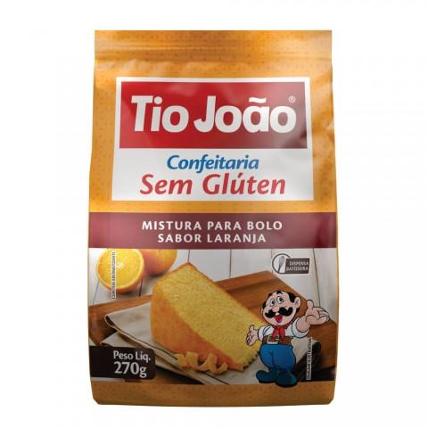 Mistura P Bolo Sabor Laranja  s/ Glúten e s/ Lactose TIO JOAO REF: 7486