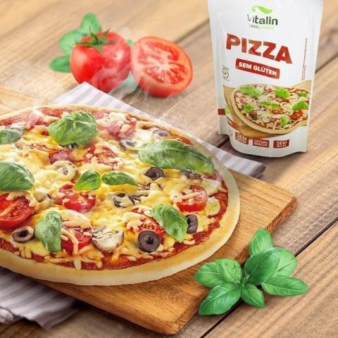 Mistura para Pizza Integral s/ Glúten Vitalin 200g REF: 09617